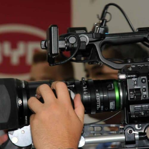 Intersolar-Kamera bei den Dreharbeiten von VORSATZ.MEDIA auf der Smarter E